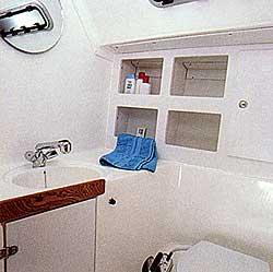 Yachtcharter Kroatien, Bavaria 44 Toilette